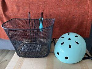 Bike accessories - helmet, light, basket
