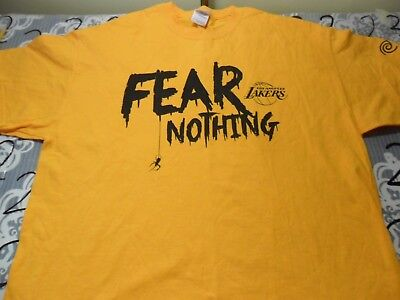 XL- NWOT Lakers Game Night Time Warner Promo Halloween T- Shirt
