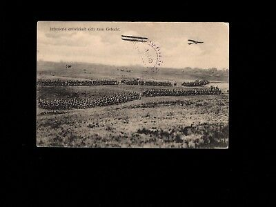 WWI Germany Army Ready For War Airplanes Observe Feldpost 1915 Postcard 3k Army War Airplanes