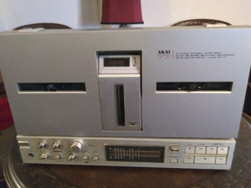 Vintage AKAI GX-77 Reel-to-Reel 4-Track Tape Deck Player - Recorder