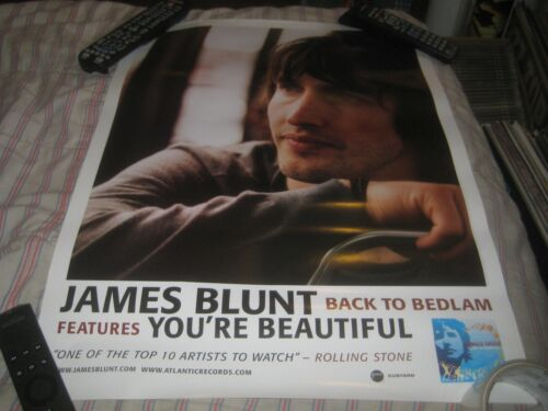 JAMES BLUNT-BACK TO BEDLAM-1 POSTER-18X24 INCHES-NMINT-RARE!!!