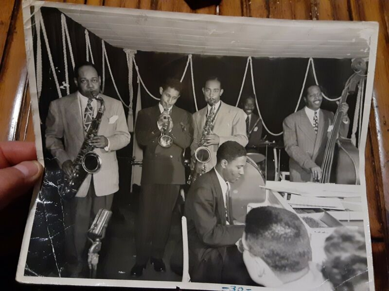 RARE Orig 1943 Photo Modern Jazz Bebop Thelonious Monk Coleman Hawkins Don Byas