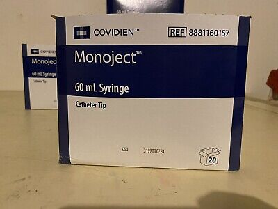 Monoject Covidien 60ml Syringe Catheter Tip Box Of 20 Ref 8881160157