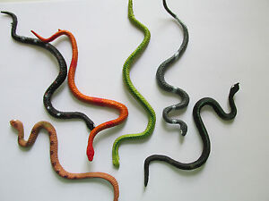 12-Vinyl-Realistic-SNAKES-toys-favors-party-supplies-boys-FREE-SHIP