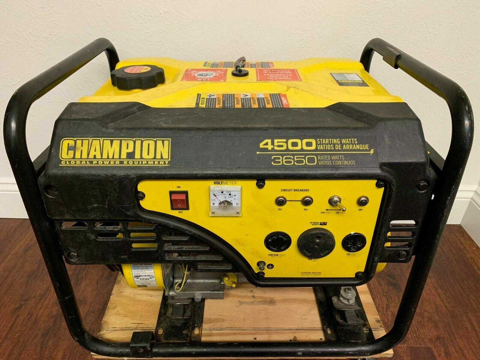 CHAMPION GENERATOR 4500/3650 RV READY