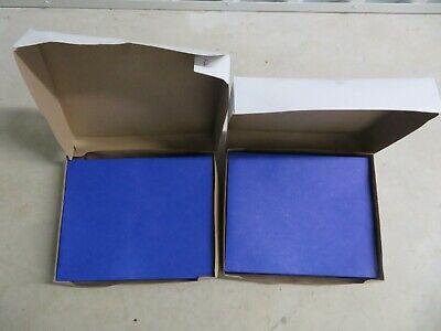 2 Staples Twin Pocket Folders 25 Letter Size Portfolios Per Box Blue 27534-cc