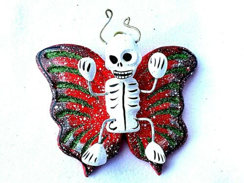 Day of the Dead BUTTERFLY With SKELETON Ornament Oaxaca Mexico