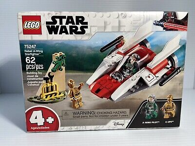 Lego STAR WARS REBEL A-WING STARFIGHTER 75247 Brand New & Sealed C-3PO No Box