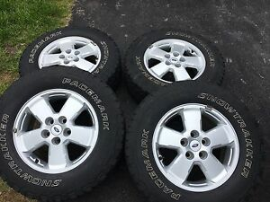 "16"" Ford Escape Rims and winter tires with TPS"