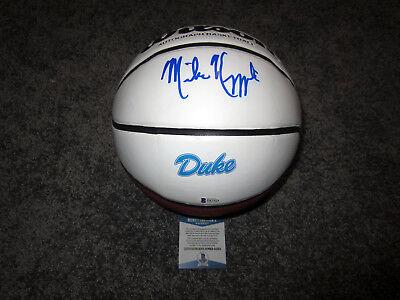 3830da7e934 MIKE KRZYZEWSKI Coach K Duke Blue Devils SIGNED Wilson Basketball w  BAS COA