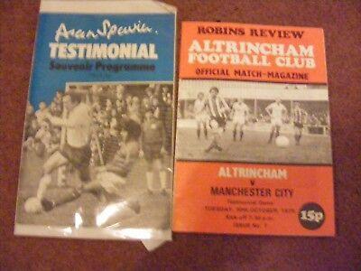 1979/80 Altrincham v Manchester CitY  Testimonial,