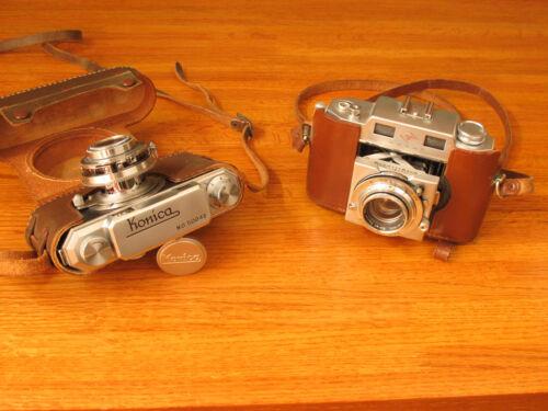 Vintage Agfa Karat 4 Xenon and Konica 1 35mm Hexar Rangefinder Cameras As-Is
