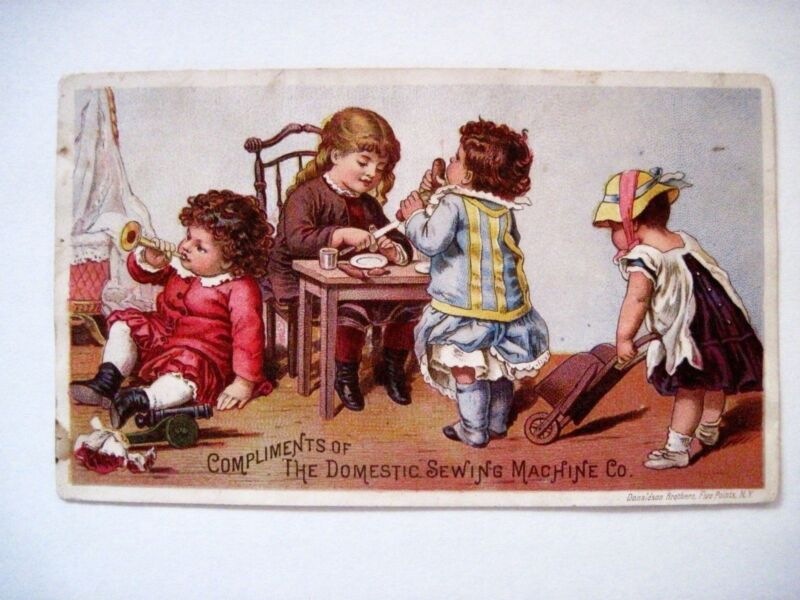 "Vintage Victorian Trade Card for ""The Domestic Sewing Machine Co."" *"