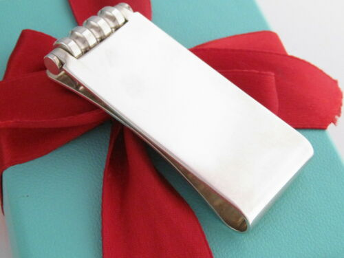 Authentic Tiffany & Co Silver 925 Groove Picasso Money Clip Holder