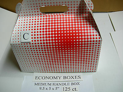 Economy Med.chicken Take Out Handle Barn Box 125ct For Broaster Henny Penny Fry