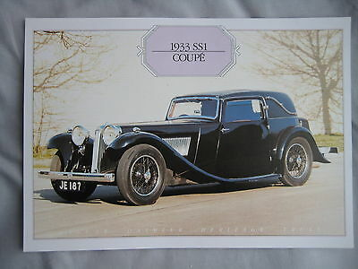 1933 SS1 Coupe Specification Sheet