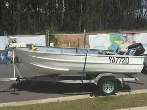 14FT OPEN TINNY, 30HP MOTOR; BOAT AND TRAILER WITH 6 MONTH REGO Springfield Lakes Ipswich City Preview