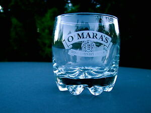 OMARAS-IRISH-COUNTRY-CREAM-OMARAS-GLASS-PAT-OMARA-SIGNED-RIBBON-LOGO-FANCY
