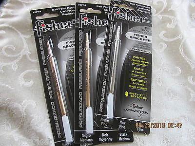 3 Three REFILLS black-FINE point - Fisher Space Pen SPR4F