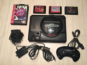 Sega Genesis model 1 + 4 jeux/games
