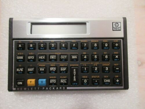 HP 16C Vintage Scientist Calculator With Cover - Mint