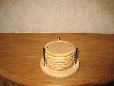 *NEW* BOIS Set 6 sous-verres ronds 10cm Coasters centre en liège