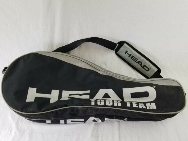 HEAD Tour Team large Tennis Racquet racket Bag Black & Silver used canvas
