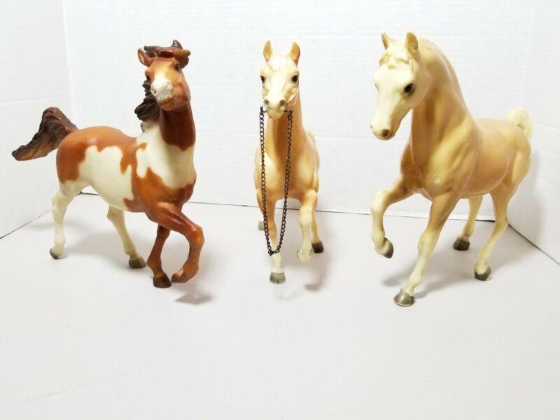 Lot Of 3 Vintage BREYER HORSES Bob scriver 1985 & RARE ? HTF 9×10