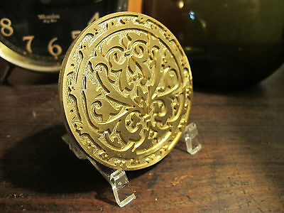 Ornate Historic Round 1 Leather Bookbinding Finishing Tool Stamp Embossing Die