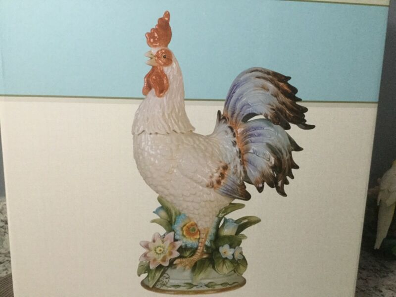 rooster fitz and floyd toulouse centerpiece brand new