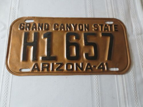 1941 ARIZONA RESTORED LICENSE PLATE H1657