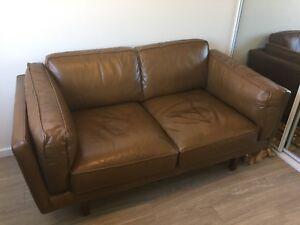 Freedom Brooklyn Leather Sofa 2 Seater In Oxford Tan
