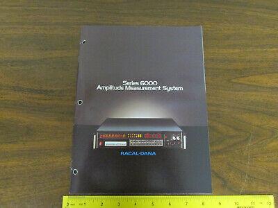 Racal-dana Series 6000 Amplitude Measurement Electronics Test Equipment Brochure