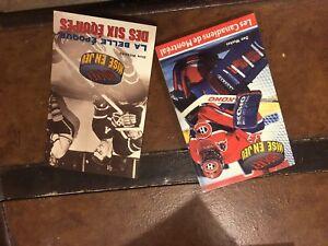5 revues  et livres de hockey