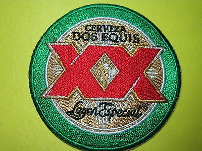 BEER PATCH DOS EQUIS BEER LOOK AND BUY NOW DOS XX LOOK CERVEZA  MEXICO IMPORT
