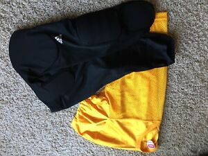 Football pants and practice jersey