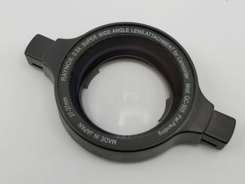 Raynox QC-505 0.5x Super Wide Angle Clip-On Lens for 27 28mm 30mm 37mm Camcorder