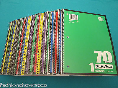 Spiral Notebook 1 Subject 70 Sheets College Ruled 10 Spiral Notebooks - Bulk Spiral Notebooks