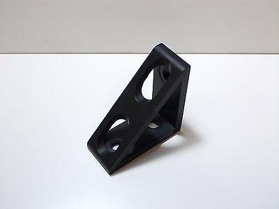 8020 Inc Equivalent Alum 4 Hole Inside Corner Gusset 10 Series Pn 4136-black