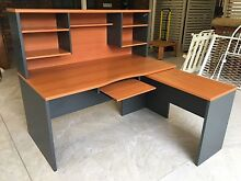 Large office desk with hutch and return Brassall Ipswich City Preview
