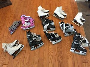 Skates ranging from  size 10-6