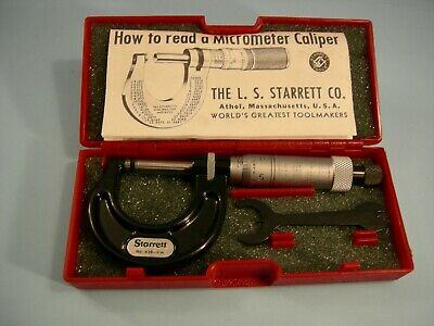 New Starrett No.t436xrl-1  1 Outside Micrometer Tool Maker Machinist 0ther