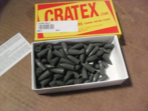 """100 !!! Cratex 1"""" x 3/8"""" x 1/8"""" Bullet Rubberized Points 11-C"""