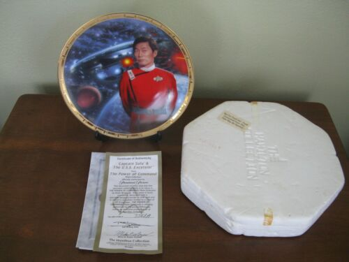 Hamilton Collection Star Trek Plate-Captain Sulu and the USS Excelsior-COA