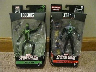 marvel legends spiderman lot superior doc oct ,green siderman gamestop mip