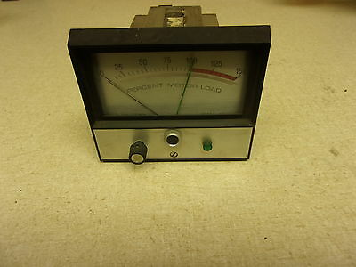 Jewel Electric Meter Percent Motor Load Model 309 W Case Free Shipping