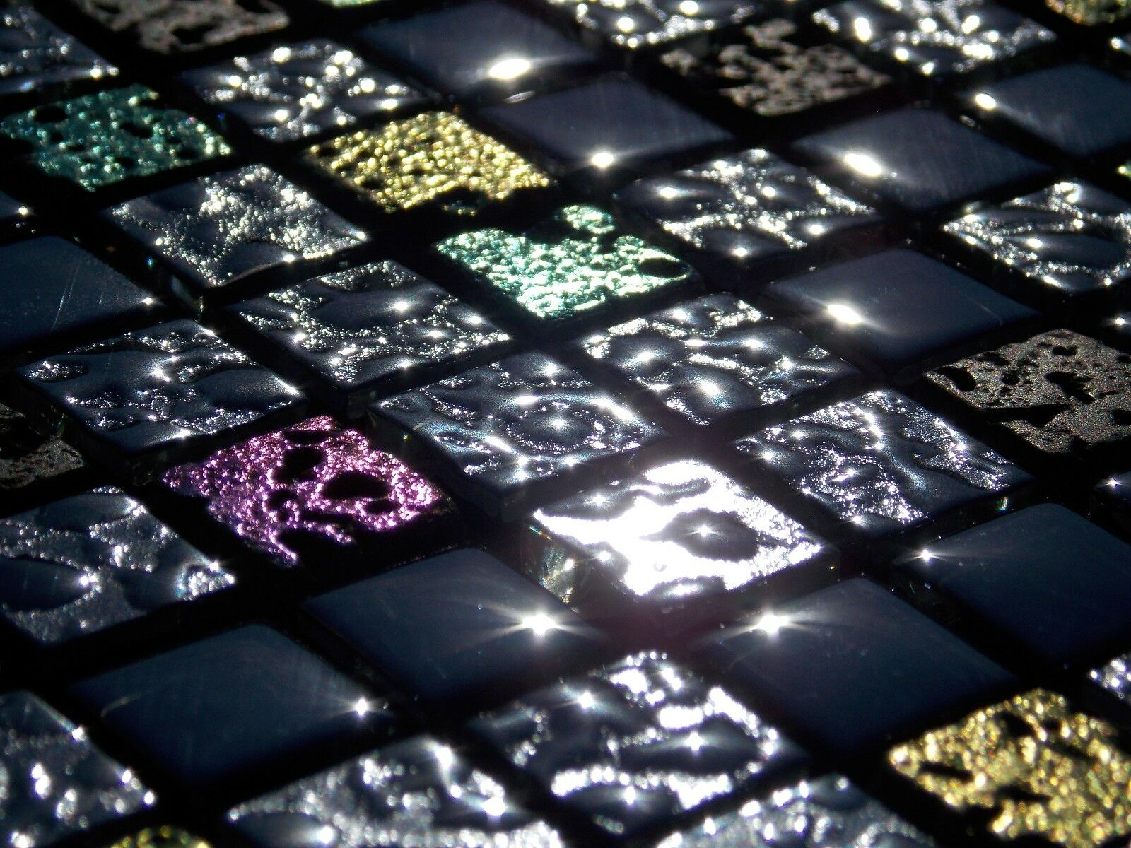 Glasmosaik naturstein marmor fliesen schwarz gr n pink gold perlmutt mosaik 8mm eur 13 95 - Marmorfliesen schwarz ...