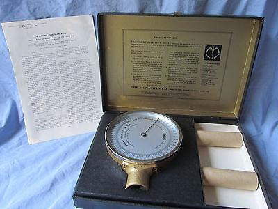 Vintage Wright Peak Flow Meter The Monaghan Co 1963 W Original Boxinstructions