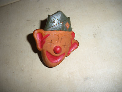 Antique Boyscout Handkerchief Ring.  Smiling Clown with 1948 Boyscout Hat. RARE!