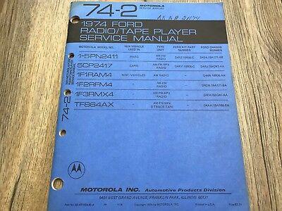 1974 FORD AM/FM AM 8 TRACK MULTIPLEX STEREO AUTO RADIO SERVICE MANUAL